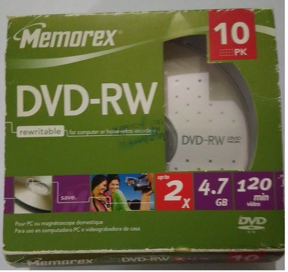 Dvd Virgen Regrabable Memorex Dvd-rw