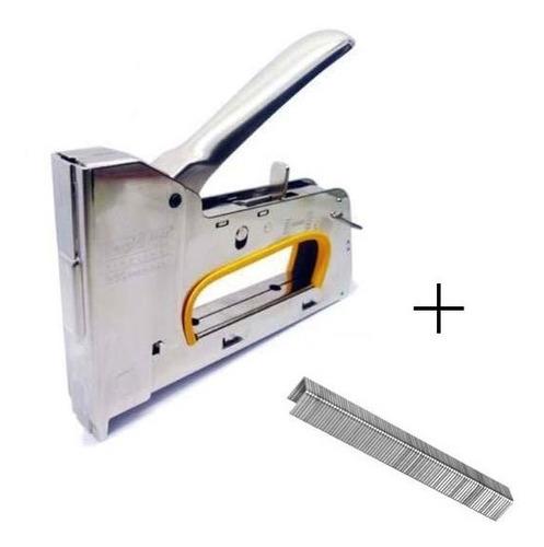 Imagen 1 de 10 de Engrampadora Metalica Manual Profesional 13mm + 100 Grampas