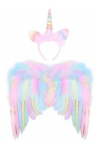 Imagen 1 de 7 de Accesorio Disfrace - G.c Alas De Unicornio Para Niñas Con Di