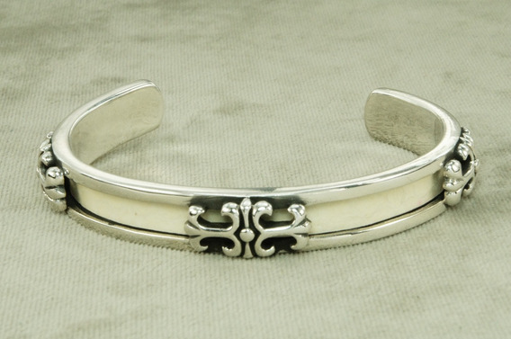 Bracelete Pulseira Bali Masculino Branco (l40) Prata 925