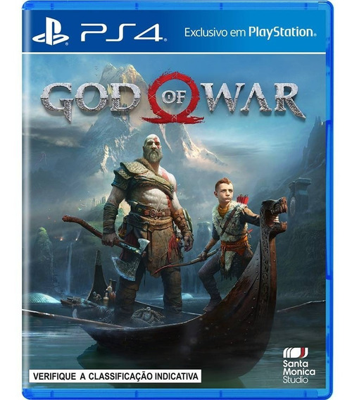 Jogo Mídia Física Lançamento God Of War Para Ps4