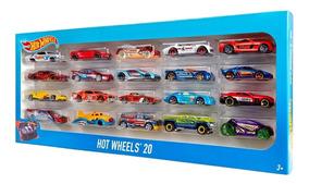 Pacote Com 20 Carrinhos Hot Wheels Originais Sortidos Mattel