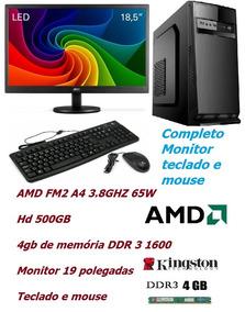 Computador Amd A6 7480 4gb 500gb Completo