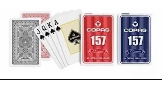 Baralho Copag 139 Truco 2 Caixas Azul E Vermelho Jogos Carta