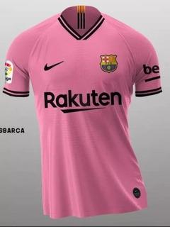 Camiseta Barcelona Rosa 2019 Nova Original + Meia Brinde