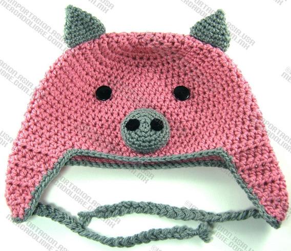 Gorras Tejidas Estambre Crochet Para Bebés Niños Y Adultos