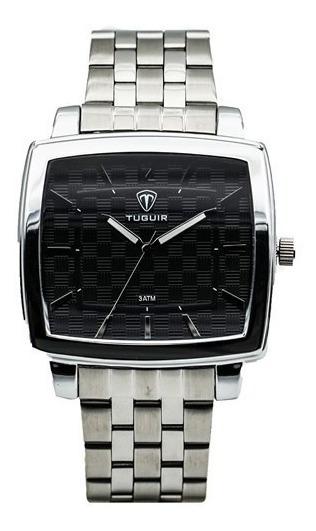 Relógio Quadrado Masculino Tuguir Original Barato Dj0069