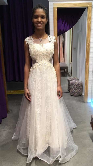 Vestido Importado De 15,bodas,fiestas Casi Nuevo