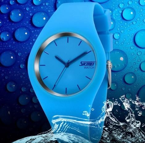 Relógio Unissex Analog Pulseira Silicone Prova Dágua Import