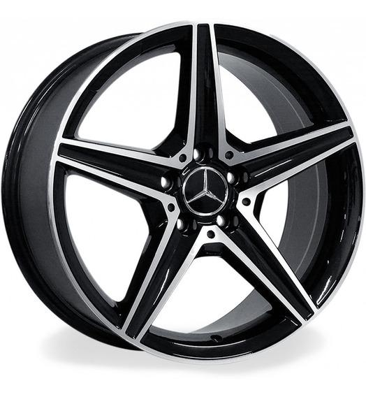 Roda Mercedes Benz C250 Amg 2.0 Aro 17x8 / Preta Diamantada