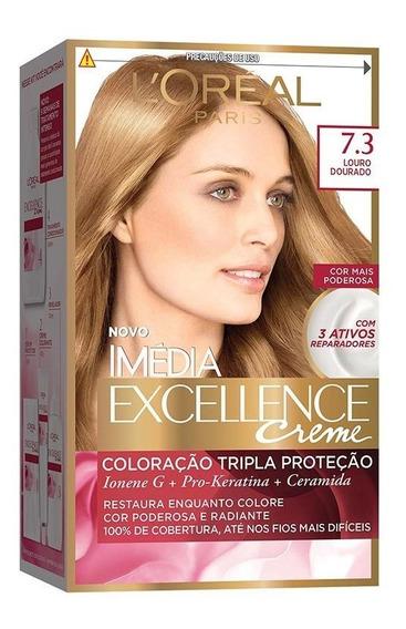 Coloração Imédia Excellence Creme - 7.3 Louro Dourado