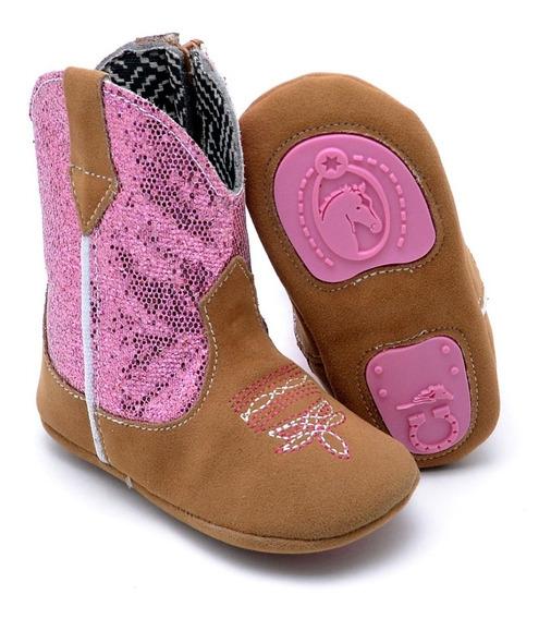 Botinha Country Infantil Kids Texana Cano Médio Baby Boots