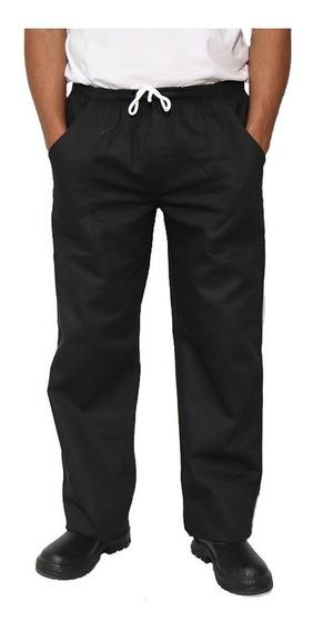 Calça Oxford Uniforme Profis Tecido Leve Preto (kit 4 Uni)