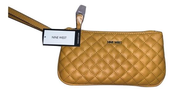 Wristlet Nine West Original Bolsa De Mano Pochette Quilted