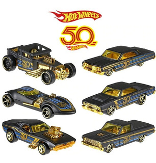 Hot Wheels Black And Gold 50 Anos