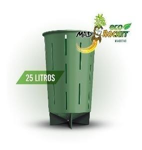 Maceta Indoor Cultivo Medicinal Mad Rocket 25l Verdes Envios