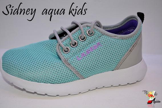 Zapatillas De Nena La Gear Aqua