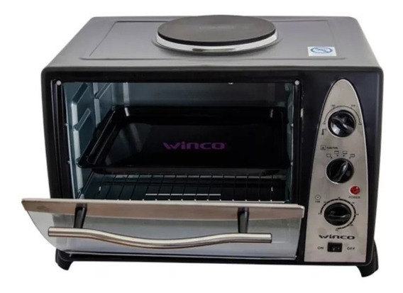 Horno Electrico Con Anafe Superior 36 Litros Winco W37 2600w
