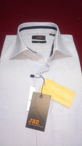 Camisa De Vestir Jbe Slim Talla 15 2-3 Super Oferta