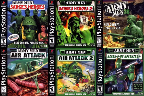 Kit 6 Discos Army Man Inbox Pacths Psx Psone Ps1 Pc Ps2*