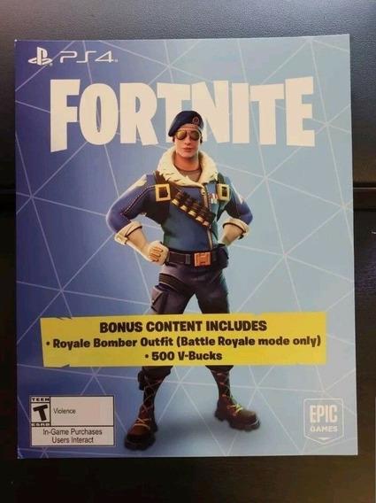 Skin Bomber Fortnite Bundle + 500 V-bucks Psn Br - Encomenda
