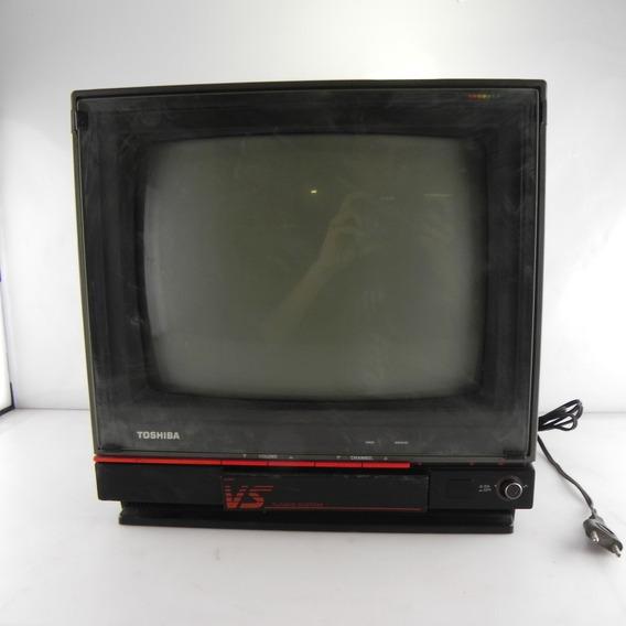 Tv Tubo Antiga Toshiba Vs Tuning System Ts-147 P/ Decoração