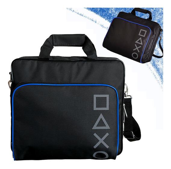 Bolsa Para Ps4 Slim Fat De Transporte C/ Compartimentos Case