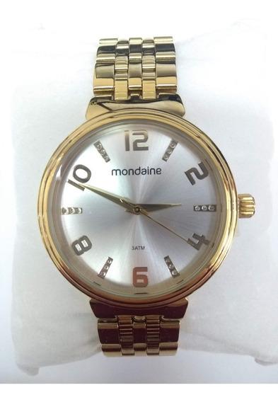 Relógio Fem. Dourado C Strass Mondaine 94958lpmkde1k Vltrine