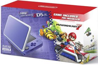 New Nintendo 2ds Xl Purpura Plata Mario Kart 7