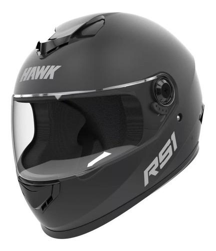 Imagen 1 de 4 de Casco Para Moto Integral Hawk Rs1  Negro Mate Talle M
