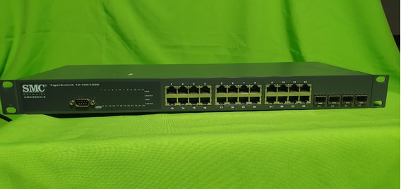 Switch Smc 8024l2 24 Puertos