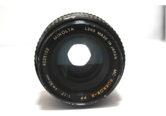 Lente Minolta 50mm 1.7 Retro Coleção P/ Retirada De Peça
