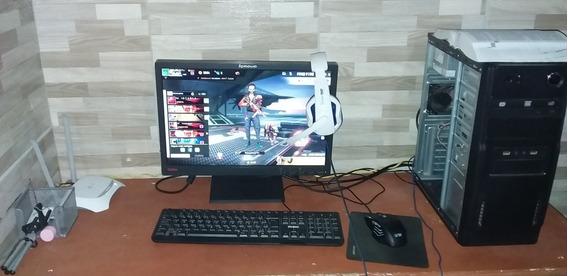 Pc Gamer Completo Com Monitor Teclado E Mouse, Sem O Fone