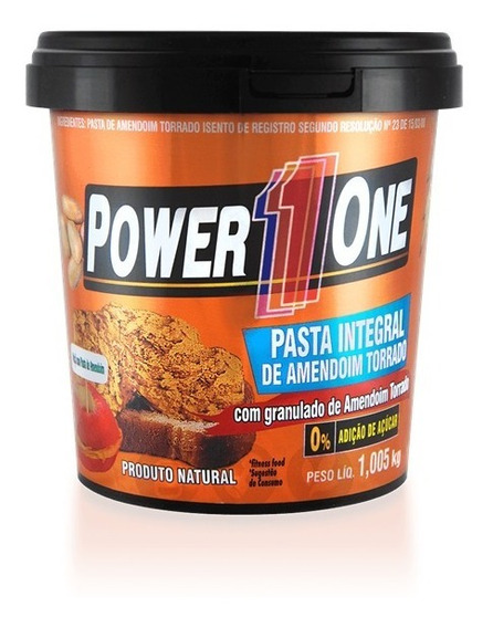 Pasta De Amendoim Integral Power One