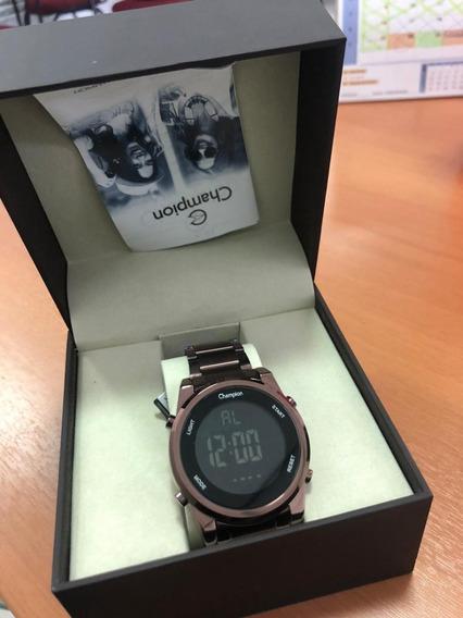 Relógio Unissex Champion Digital Marrom