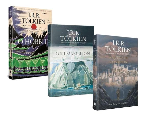 Kit Livros O Hobbit + A Queda De Gondolin + O Silmarillion
