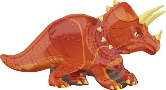 Globo De Dinosaurio Triceratops (calidad Helio)