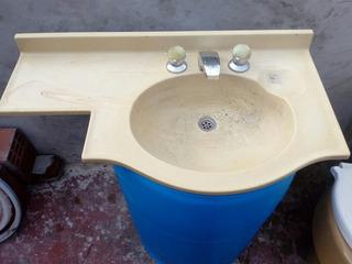 Mesada Para Baño 60cm Extendido Sin Griferia