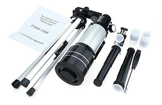 Telescópio 1 Pc F30070m Lente Barlow Ocular Monocular