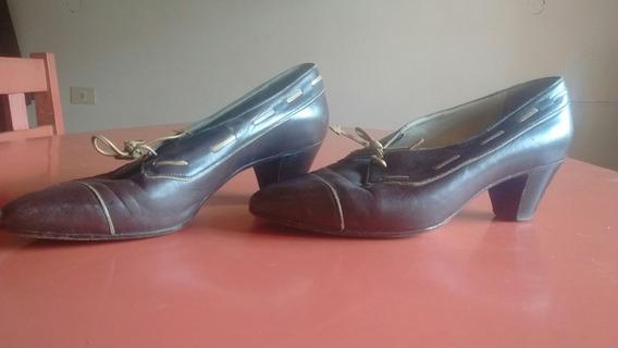 Zapatos Italianos De Cuero, Originales, Marrones