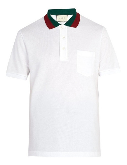 Camiseta Polo Marca Gucci Color Blanca Talla S (chica)