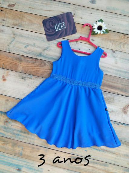 Vestido Infantil Azul Roupa Infantil De Menina Azul