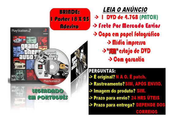 Gta 3 - Grand Theft Auto 3 P/ Ps2 Legendado Pt/br + Brinde