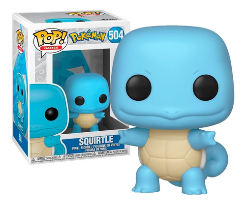 Boneco Funko Pop Games Pokémon Squirtle 504 - Original