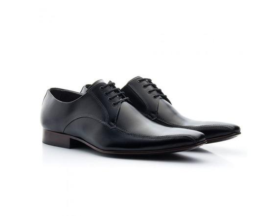 Sapato Social Masculino Couro Preto 300 - Frete Grátis