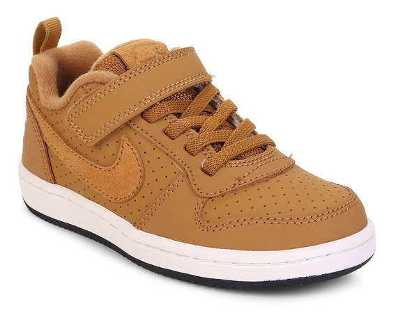 Tênis Infantil Nike Court Borough Low - Caramelo