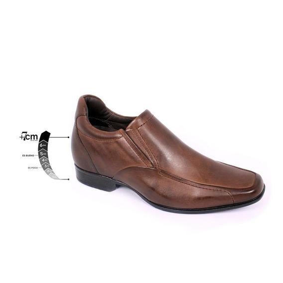 Zapato Formal Tabaco Café Max Denegri +7cms De Altura -40%