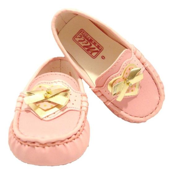 Sapato Mocassim Infantil Rosa Milisport 7032