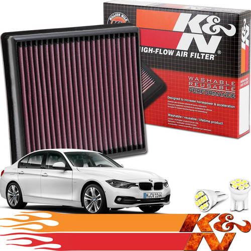 Imagem 1 de 5 de Filtro De Ar Inbox K&n Ken 33-2990 Bmw 328i Turbo Serie 2017