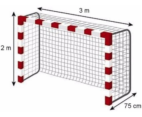 Imagen 1 de 9 de 2 Red Arco Papi Futbol Salon Futsal 3x2 Fuerte Uso Intensivo